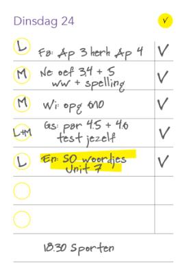 Markeer je leerwerk