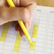 Kleuren-tijd-schema