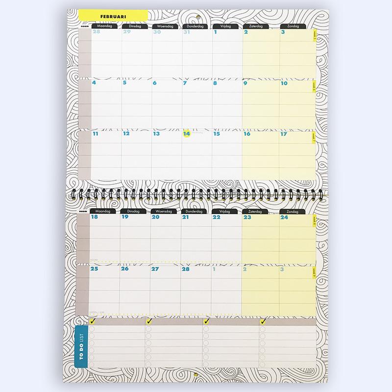 Verwonderlijk Plenda Familiekalender 2019 - PLENDA - Planning & Agenda KO-44